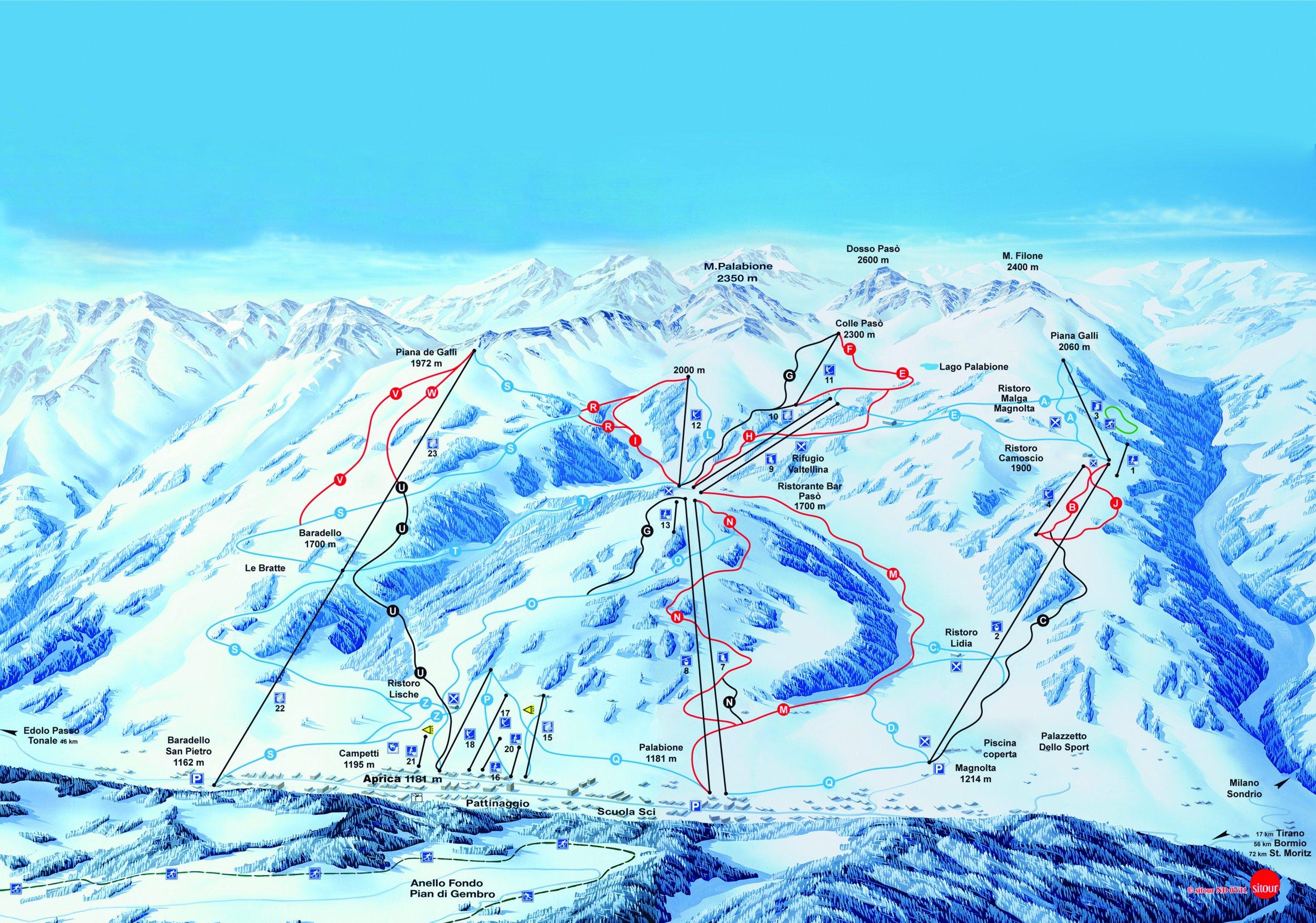 Lyžařské zájezdy do střediska Aprica