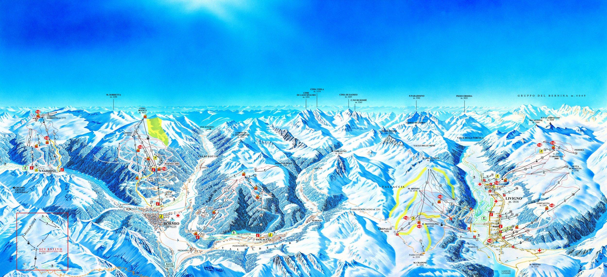 Bormio lyžování, Bormio ubytování levně se Summit Tour
