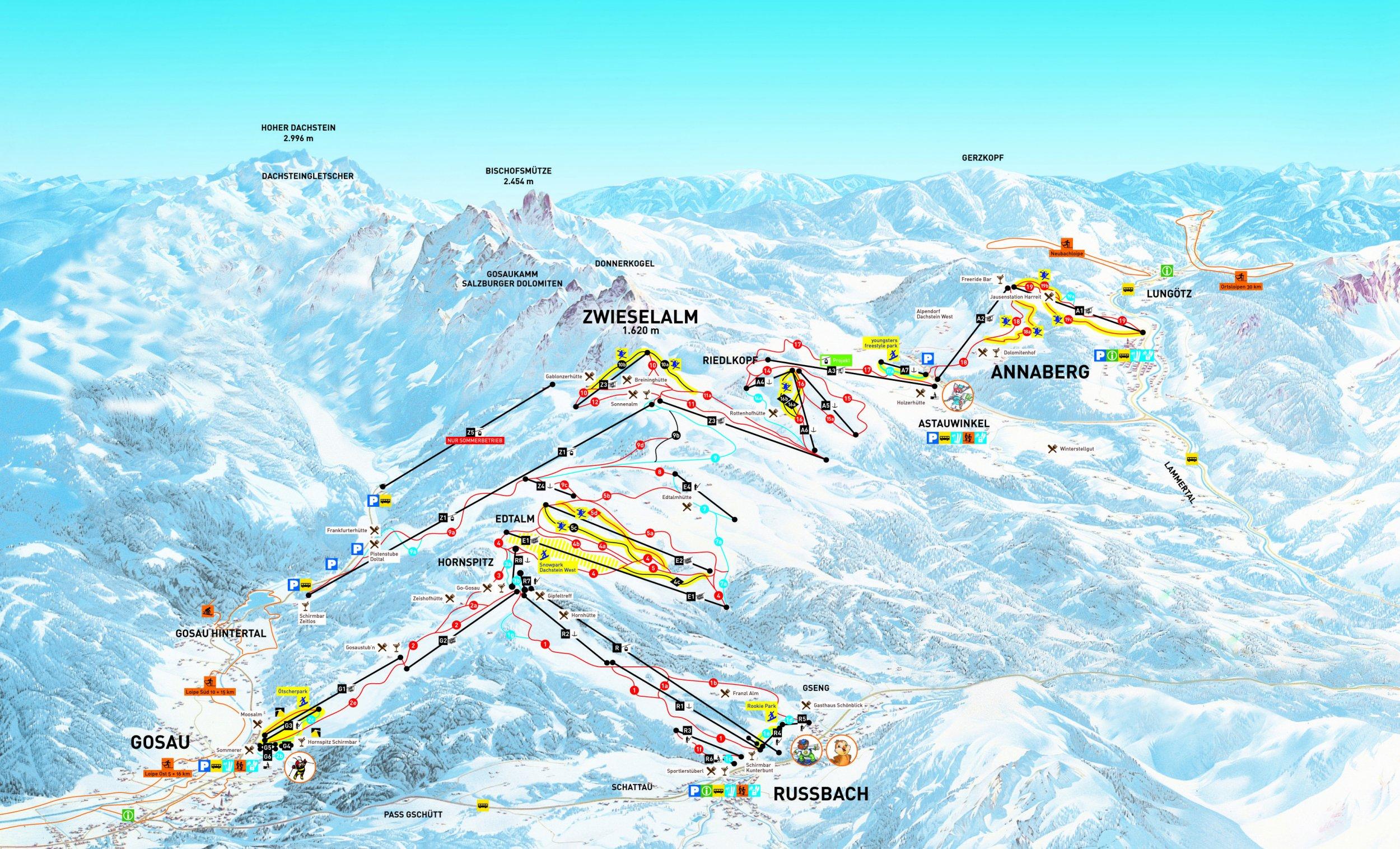 Lyžařské zájezdy do střediska Dachstein West
