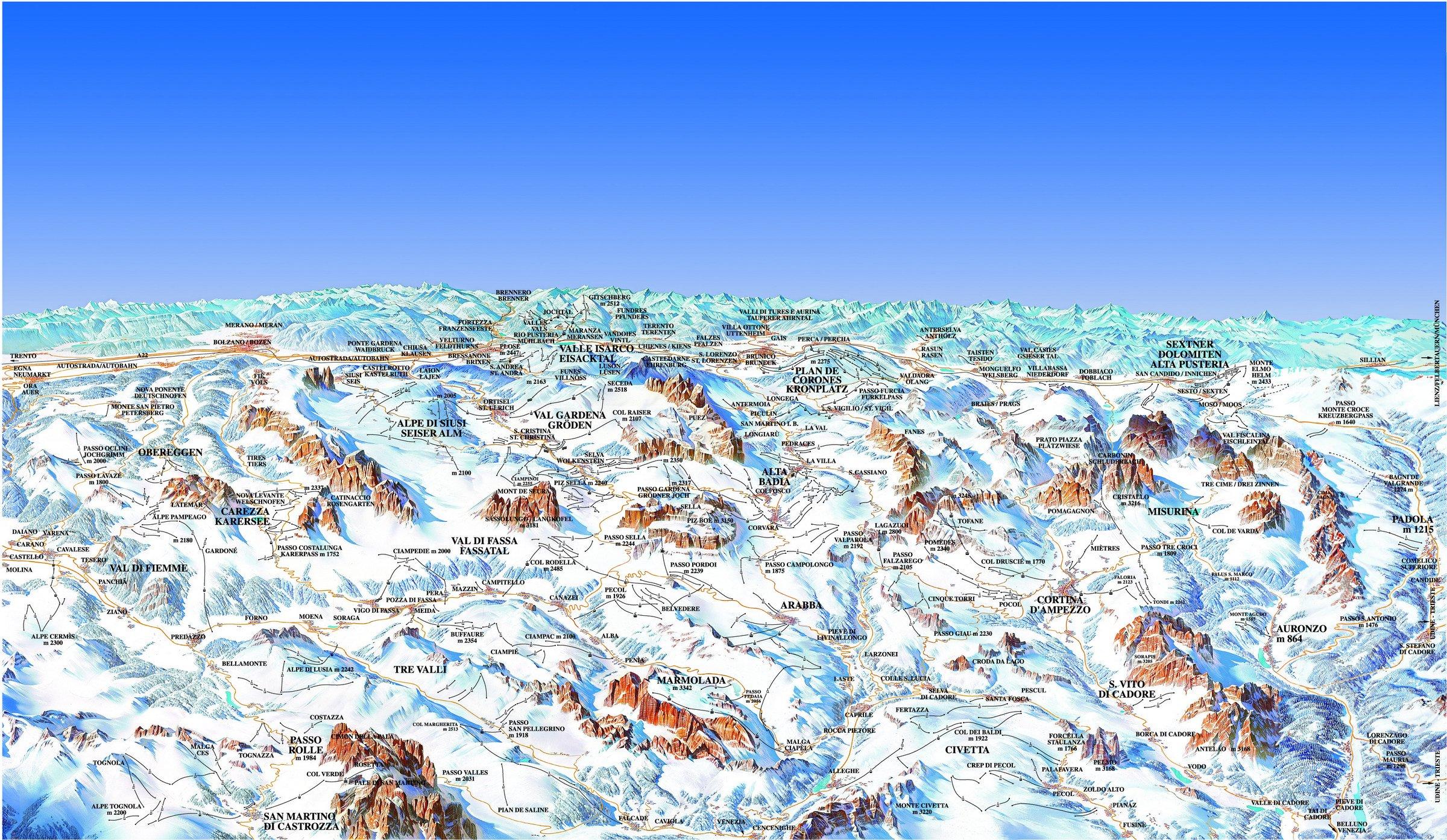 Lyžování Dolomiti Superski