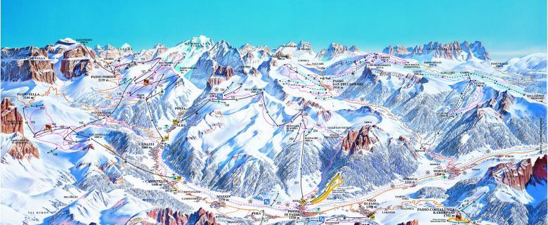 Lyžařské zájezdy Val di Fassa