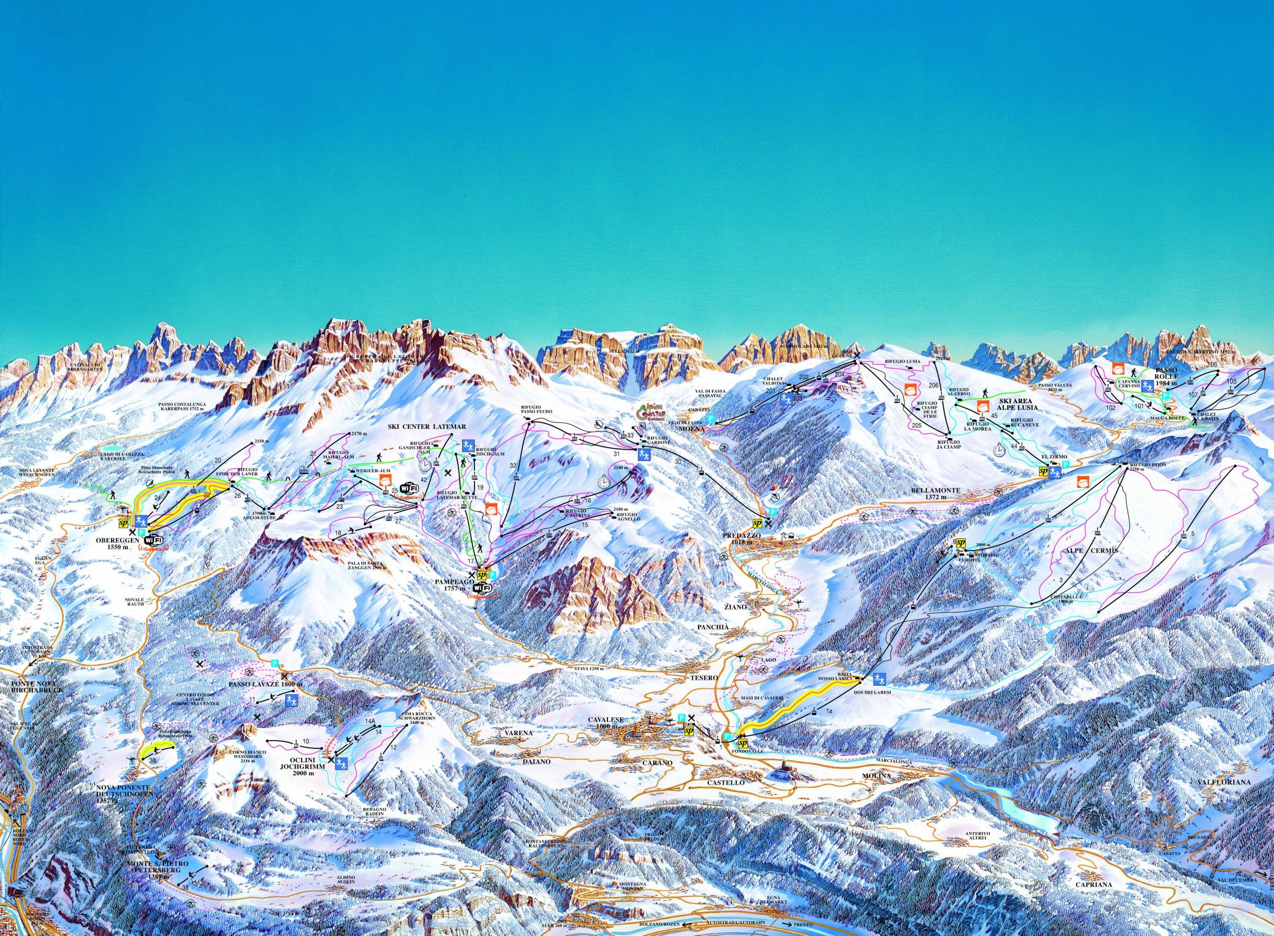 Lyžařské zájezdy do Val di Fiemme Obereggen